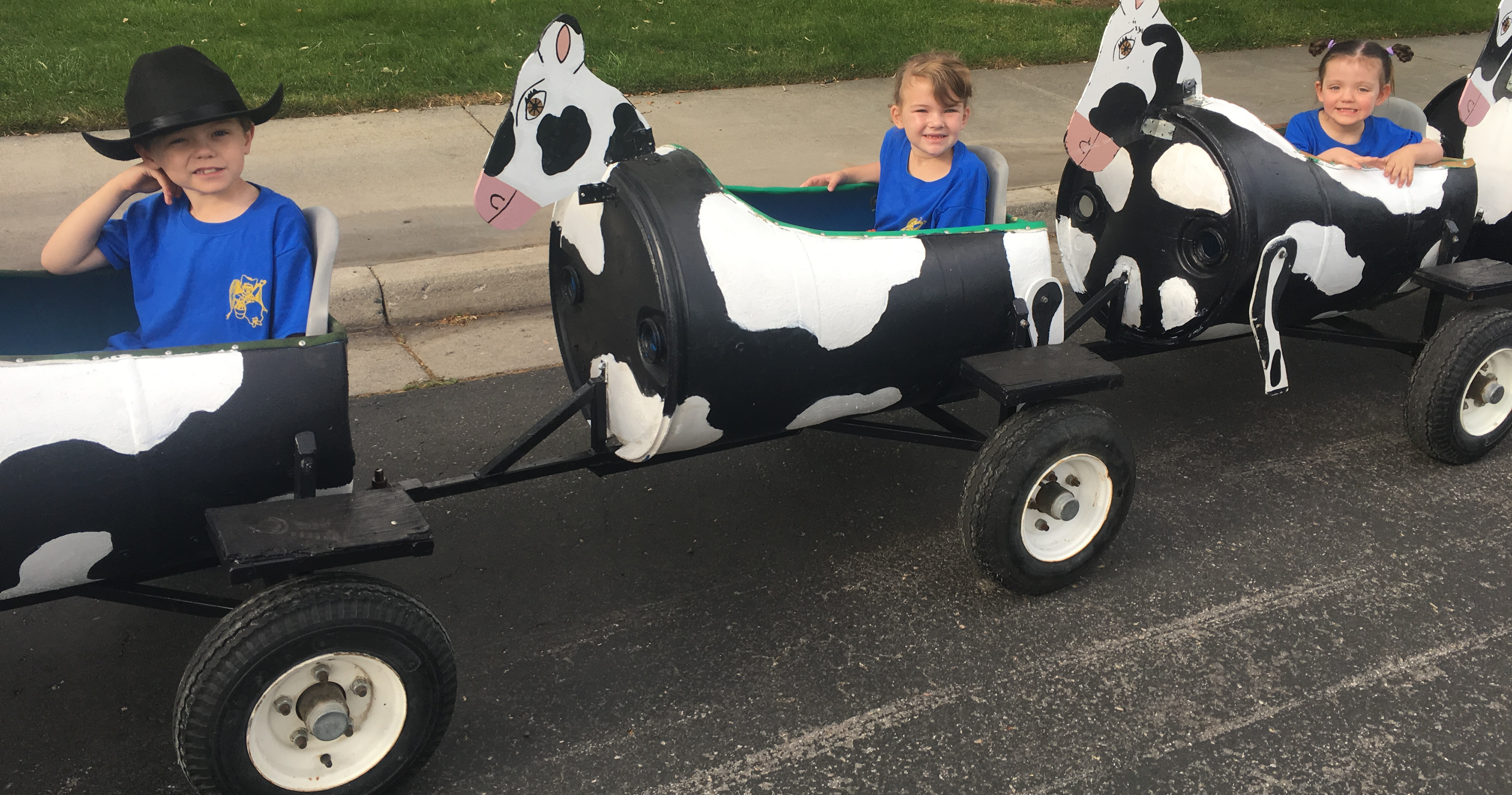 Children's Train made to look like cows at Glen Ray's Corn Maze and Pumpkin Patch