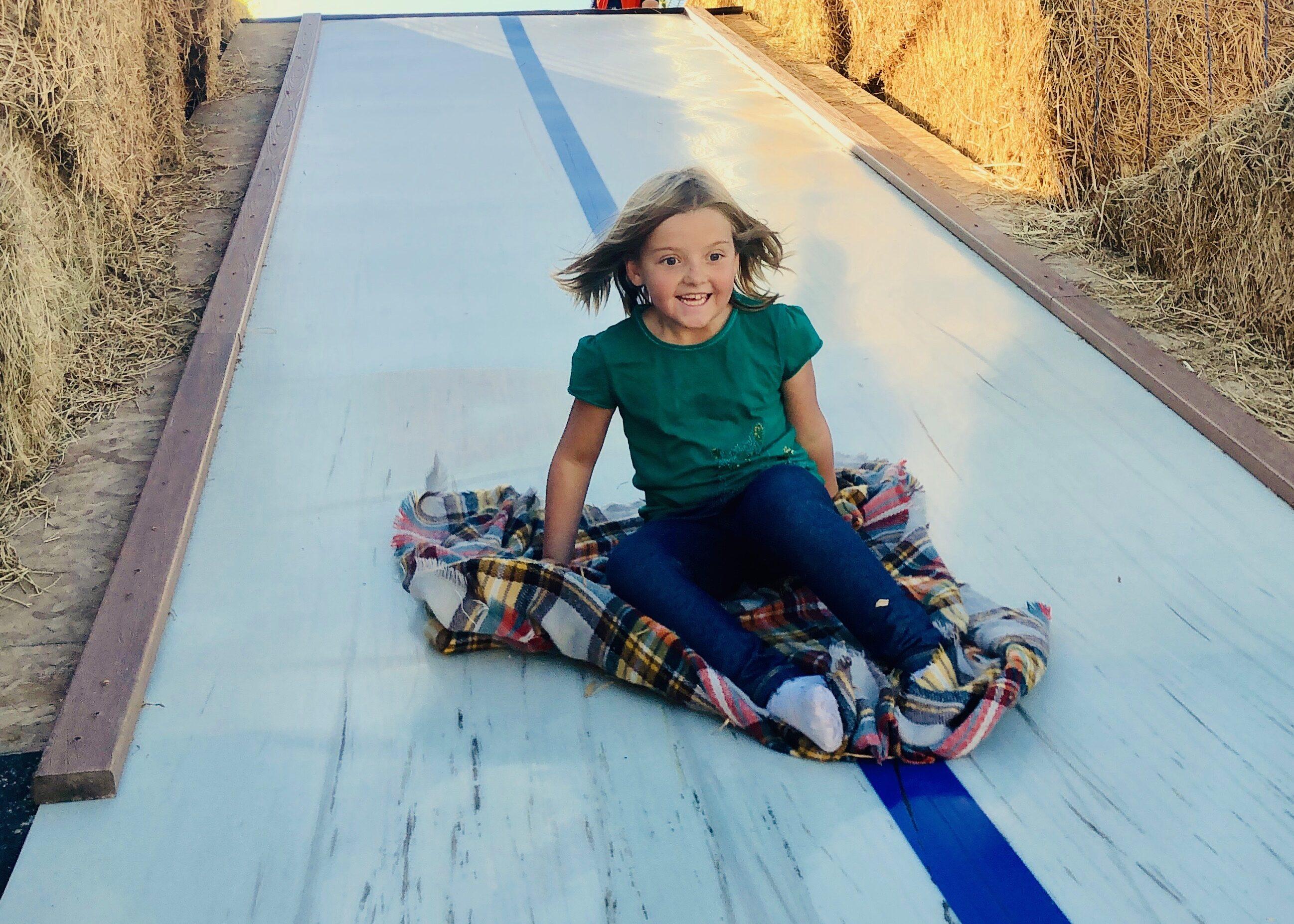 Glen Rays Corn Maze Super Slide - Giant 50 ft slide at corn maze