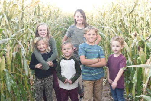 Children ready to enter the corn maze at Glen Ray's.