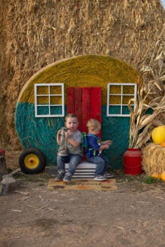 Straw bale trailer for photo opps.